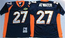 Denver Broncos #27 Steve Atwater Blue Super Bowl Stitched Mitchell and Ness Jersey