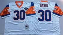 Denver Broncos #30 Terrell Davis White 75TH Stitched Mitchell and Ness NFL Jersey