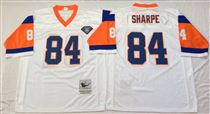 Denver Broncos #84 Shannon Sharpe White 75TH Stitched Mitchell and Ness NFL Jersey