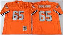 Denver Broncos #65 Gary Zimmerman Orange Stitched Mitchell and Ness NFL Jersey