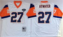 Denver Broncos #27 Steve Atwater White 75TH Stitched Mitchell and Ness NFL Jersey