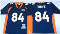 Denver Broncos #84 Shannon Sharpe Blue Super Bowl Stitched Mitchell and Ness Jersey