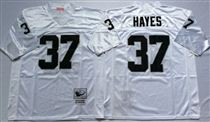 Oakland Raiders #37 Lester Hayes White Stitched Mitchell and Ness Jersey