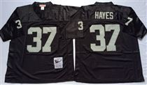 Oakland Raiders #37 Lester Hayes Black Stitched Mitchell and Ness Jersey