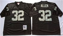Oakland Raiders #32 Marcus Allen Black Stitched Mitchell and Ness Jersey