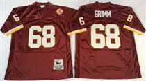 Washington Redskins #68 Russ Grimm Red Stitched Mitchell and Ness Jersey