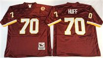 Washington Redskins #70 Sam Huff  Red Stitched Mitchell and Ness Jersey