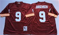 Washington Redskins #9 Sonny Jurgensen Red Stitched Mitchell and Ness Jersey