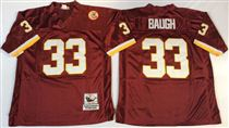 Washington Redskins #33 Sammy Baugh Red Stitched Mitchell and Ness Jersey
