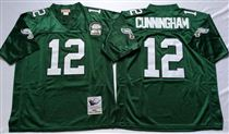 Philadelphia Eagles #12 Randall Cunningham Green Stitched Mitchell and Ness Jersey