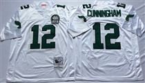 Philadelphia Eagles #12 Randall Cunningham White Stitched Mitchell and Ness Jersey