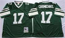 Philadelphia Eagles #17 Harold Carmichael Green Stitched Mitchell and Ness Jersey