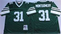 Philadelphia Eagles #31 Wilbert Montgomery Green Stitched Mitchell and Ness Jersey