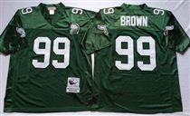 Philadelphia Eagles #7 Ron Jaworski Green Stitched Mitchell and Ness NFL Jersey