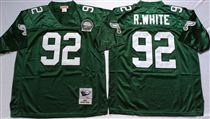 Philadelphia Eagles #92 Reggie White Green Stitched Mitchell and Ness Jersey