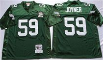 Philadelphia Eagles #59 Seth Joyner Green Stitched Mitchell and Ness Jersey