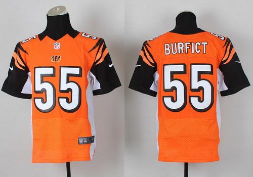 Nike Cincinnati Bengals #55 Vontaze Burfict Orange Elite Jersey