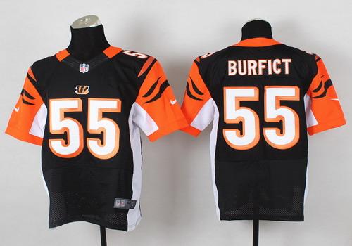 Nike Cincinnati Bengals #55 Vontaze Burfict Black Elite Jersey