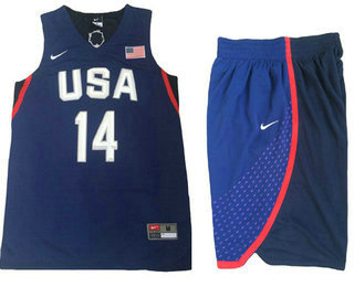 Stitched 2016 Olympics Team USA Men's #14 Danny Green Navy Blue Revolution 30 Swingman Basketball Jersey With Shorts