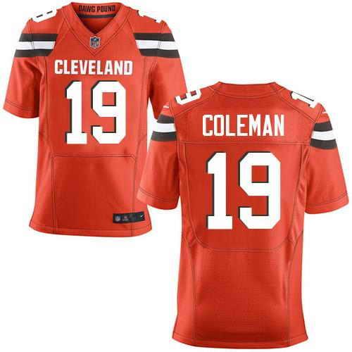 Nike Stitched Cleveland Browns #19 Corey Coleman Orange Elite