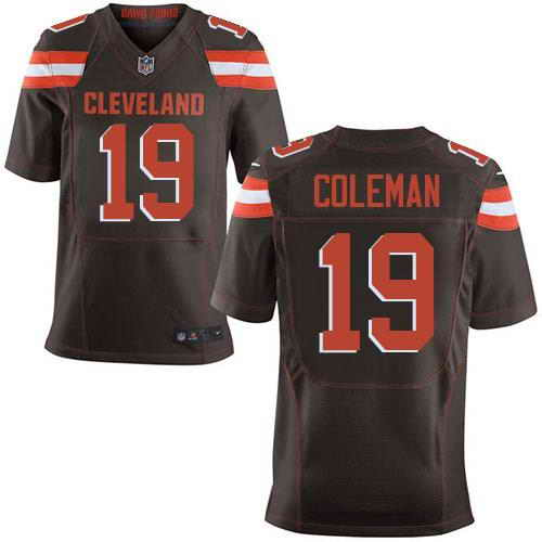 Nike Stitched NFL Cleveland Browns #19 Corey Coleman Brown Elite Jersey