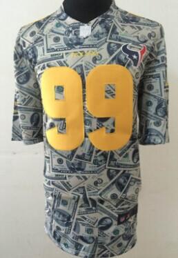 Nike Houston Texans #99 J.J. Watt Dollars Fashion Elite Jersey