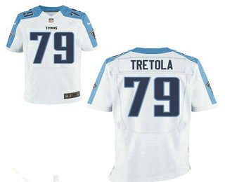 Stitched Tennessee Titans #79 Sebastian Tretola White Nike NFL Elite Jersey