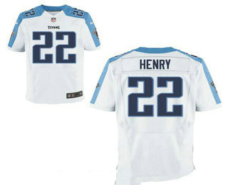 Stitched Tennessee Titans #22 Derrick Henry White Nike NFL Elite Jersey