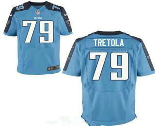 Stitched Tennessee Titans #79 Sebastian Tretola Light Blue Nike NFL Elite Jersey