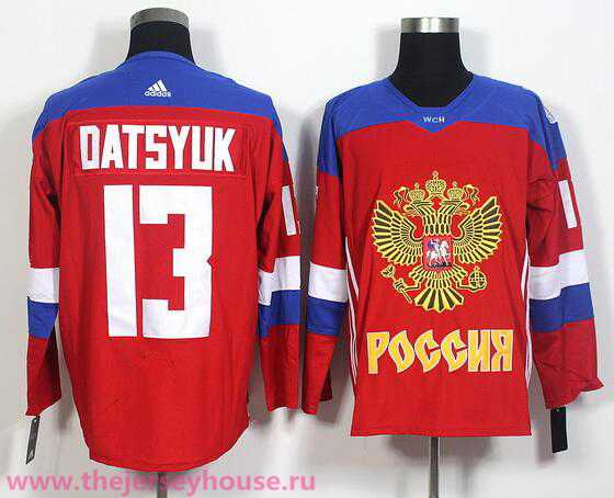 Team Russia #13 Pavel Datsyuk Red 2016 World Cup Of Hockey adidas WCH Game Jersey
