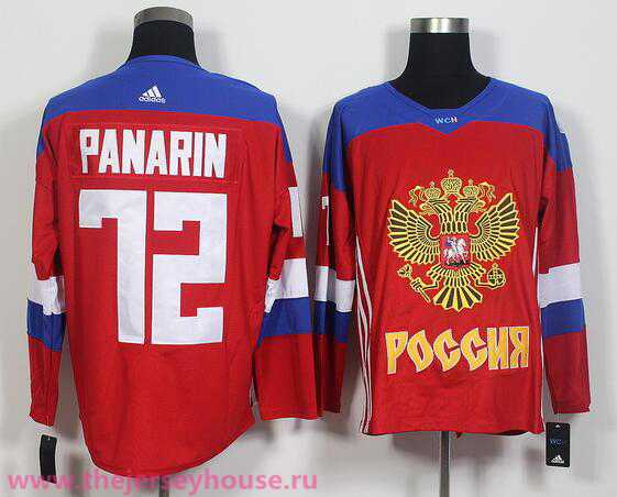 Team Russia #72 Artemi Panarin Red 2016 World Cup Of Hockey adidas WCH Game Jersey