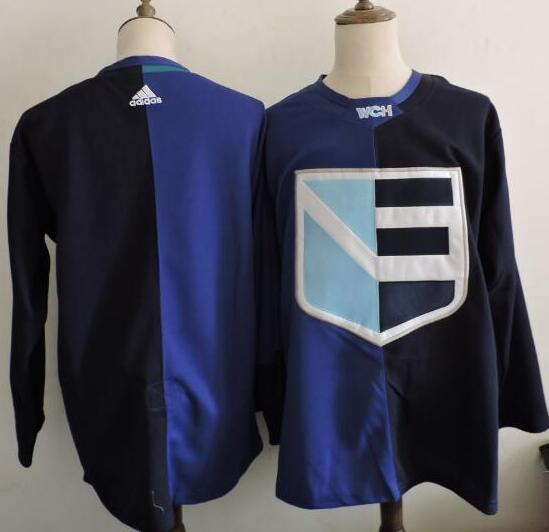 Men's Europe Hockey Blank Adidas Royal World Cup Of Hockey 2016 Premier Player Jersey