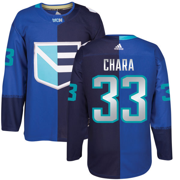 Men's Europe Hockey #33 Zdeno CHARA Adidas Royal World Cup Of Hockey 2016 Premier Player Jersey