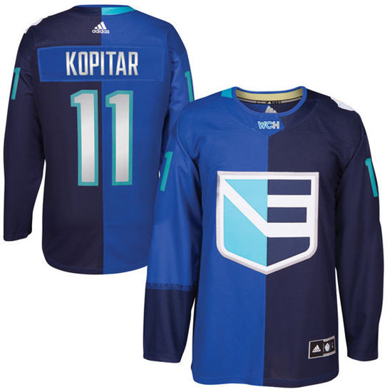 Men's Europe Hockey #11 Anze Kopitar Adidas Royal World Cup Of Hockey 2016 Premier Player Jersey
