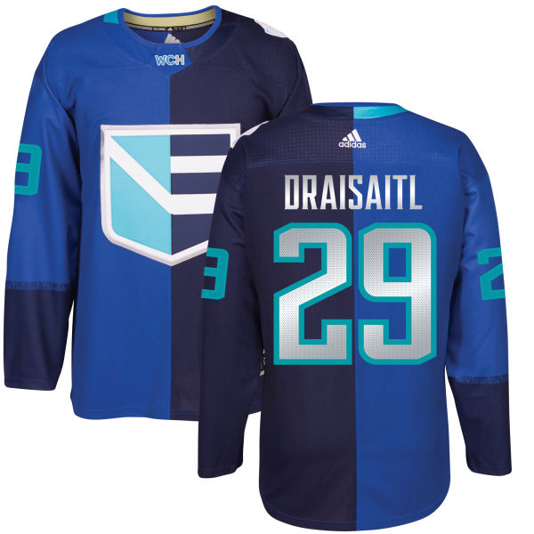 Men's Europe Hockey #29 Leon DRAISAITL Adidas Royal World Cup Of Hockey 2016 Premier Player Jersey