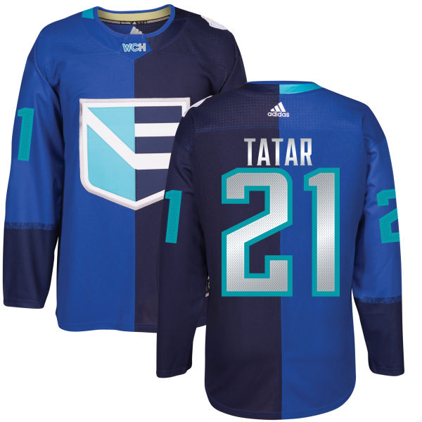 Men's Europe Hockey #21 Tomas TATAR Adidas Royal World Cup Of Hockey 2016 Premier Player Jersey