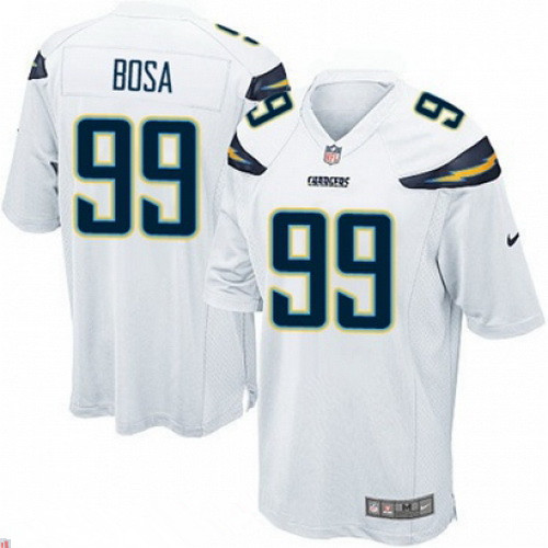 Stitched San Diego Chargers #99 Joey Bosa White Elite Jersey