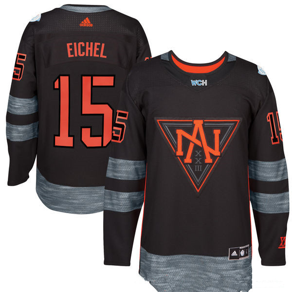 NHL North America Hockey #15 Jack Eichel Black 2016 World Cup of Hockey Stitched adidas WCH Game Jersey