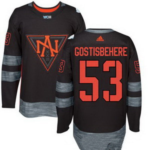 NHL North America Hockey #53 Shayne Gostisbehere Black 2016 World Cup of Hockey Stitched adidas WCH Game Jersey