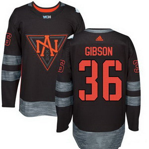 NHL North America Hockey #36 John Gibson Black 2016 World Cup of Hockey Stitched adidas WCH Game Jersey
