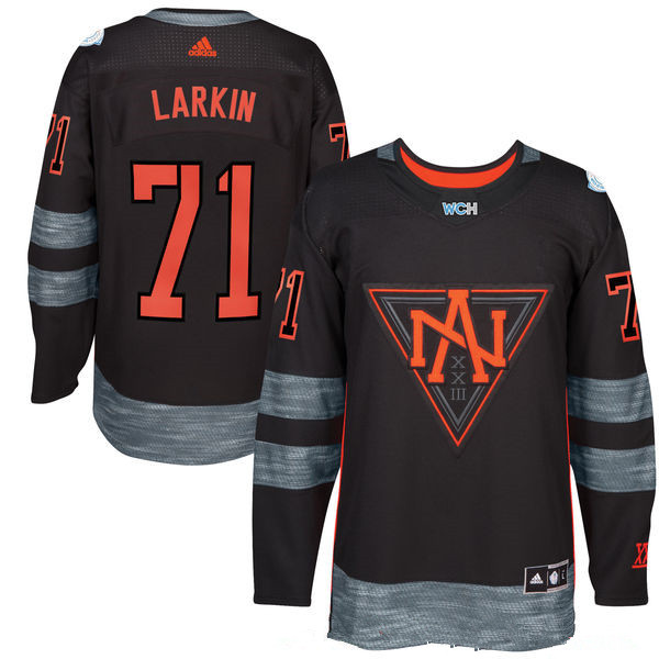 NHL North America Hockey #71 Dylan Larkin Black 2016 World Cup of Hockey Stitched adidas WCH Game Jersey