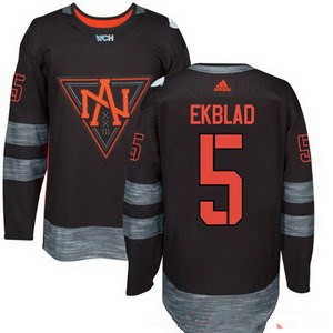 NHL North America Hockey #5 Aaron Ekblad Black 2016 World Cup of Hockey Stitched adidas WCH Game Jersey