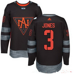 NHL North America Hockey #3 Seth Jones Black 2016 World Cup of Hockey Stitched adidas WCH Game Jersey