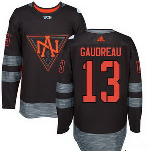 NHL North America Hockey #13 Johnny Gaudreau Black 2016 World Cup of Hockey Stitched adidas WCH Game Jersey