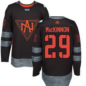 NHL North America Hockey #29 Nathan Mackinnon Black 2016 World Cup of Hockey Stitched adidas WCH Game Jersey