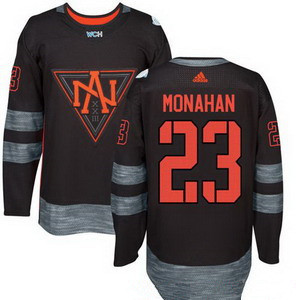 NHL North America Hockey #23 Sean Monahan Black 2016 World Cup of Hockey Stitched adidas WCH Game Jersey