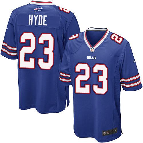 Nike Men'sNFL Buffalo Bills #23 Micah Hyde Game Royal Blue Jersey