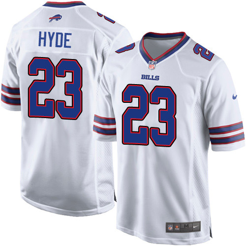 Nike Men'sNFL Buffalo Bills #23 Micah Hyde Game White Road Jersey