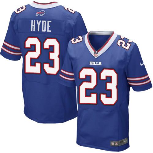 Nike Men'sNFL Buffalo Bills #23 Micah Hyde Elite Royal Blue Jersey
