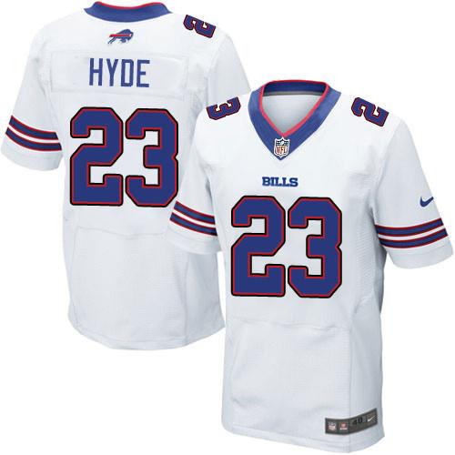Nike Men'sNFL Buffalo Bills #23 Micah Hyde Elite White Road Jersey